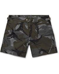 Tom Ford - Slim-fit Mid-length Camouflage-print Swim Shorts - Lyst