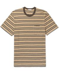 James Perse - Striped Cotton-jersey T-shirt - Lyst