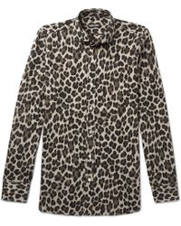 Tom Ford - Leopard-printed Woven Shirt - Lyst