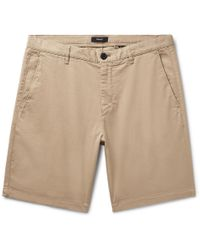 Theory - Zaine Garment-washed Cotton-blend Twill Shorts - Lyst