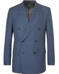 Kingsman - Harry's Navy Double-breasted Wool Suit Jacket - Lyst