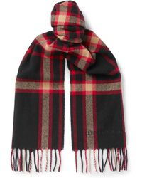 Alexander McQueen - Fringed Checked Wool Scarf - Lyst