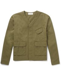 Studio Nicholson - Mucluc Washed Cotton-canvas Field Jacket - Lyst