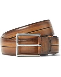 Berluti - Brown Polished Venezia Leather Belt - Lyst