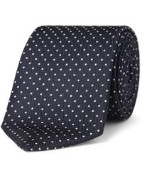 Turnbull & Asser - 8cm Polka-dot Silk Tie - Lyst