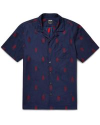 Todd Snyder - Camp-collar Cotton-jacquard Shirt - Lyst