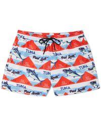 Paul Smith - Short-length Printed Swim Shorts - Lyst