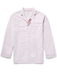 Thom Browne - Striped Cotton Oxford Pyjama Shirt - Lyst