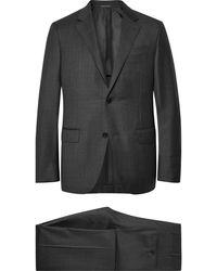 Ermenegildo Zegna - Charcoal Milano Easy Checked Wool Suit - Lyst