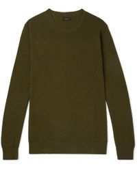 J.Crew - Cotton And Cashmere-blend Piqué Jumper - Lyst