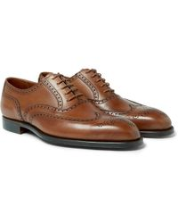 George Cleverley - Reuben Burnished-leather Wingtip Brogues - Lyst