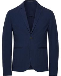 Folk - Navy Counter Unstructured Stretch-cotton Suit Jacket - Lyst