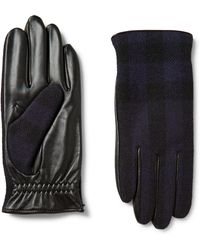 Burberry - Cashmere-lined Wool And Leather Tech Gloves - Lyst