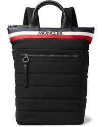 Moncler - Cerro Convertible Webbing And Leather-trimmed Quilted Shell Tote Bag - Lyst