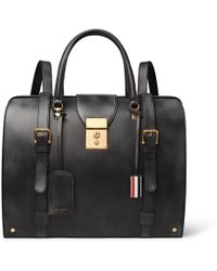 Thom Browne - Convertible Burnished-leather Backpack - Lyst