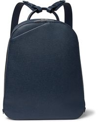 Valextra - My Logo Pebble-grain Leather Backpack - Lyst