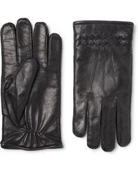 Bottega Veneta - Cashmere-lined Intrecciato Leather Gloves - Lyst