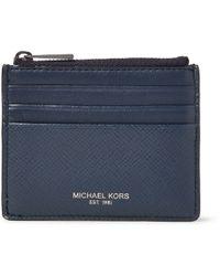 Michael Kors - Harrison Cross-grain Leather Cardholder - Lyst