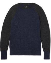 Nigel Cabourn - Two-tone Boiled Wool Jumper - Lyst