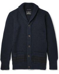 Nigel Cabourn - Shawl-collar Wool Cardigan - Lyst