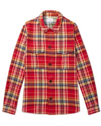 PS by Paul Smith - Checked Cotton-flannel Shirt - Lyst