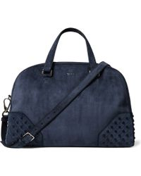 Tod's - Studded Suede Holdall - Lyst