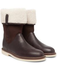 Loro Piana - Snow Walk Shearling-lined Leather And Suede Boots - Lyst