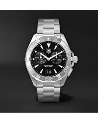 Tag Heuer - Aquaracer Alarm Quartz 40.5mm Steel Watch - Lyst