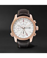 Kingsman - + Bremont Alt1-wt/wh World Timer 43mm Rose Gold And Leather Automatic Chronograph Watch - Lyst