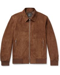 Theory - Noland Suede Blouson Jacket - Lyst