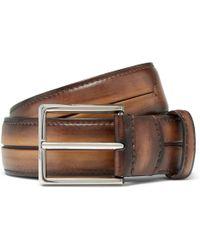 Berluti - 3.5cm Brown Gaspard Leather Belt - Lyst