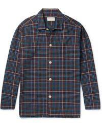 Oliver Spencer | Checked Cotton Pyjama Shirt | Lyst