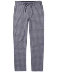 Hanro - Checked Cotton Pyjama Trousers - Lyst