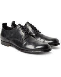 Officine Creative - Mono Distressed Leather Derby Shoes - Lyst