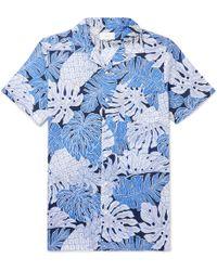 Onia - Camp-collar Printed Cotton Shirt - Lyst