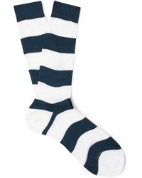 Prada - Striped Cotton Socks - Lyst
