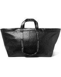 Balenciaga - Arena Creased-leather Holdall - Lyst