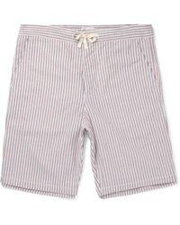 Oliver Spencer - Striped Cotton Pyjama Shorts Xxl - Lyst