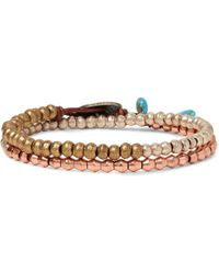Peyote Bird - Brass, Copper And Silver Wrap Bracelet - Lyst