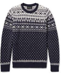 Howlin' By Morrison - Mr Lawrence Fair Isle Wool Sweater - Lyst