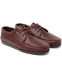 Quoddy - Blucher Full-grain Leather Boat Shoes - Lyst