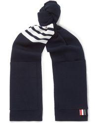 Thom Browne - Striped Merino Wool Scarf - Lyst