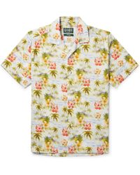 Gitman Brothers Vintage - Camp-collar Floral-print Matte-satin Shirt L - Lyst