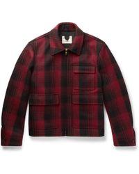 Kent & Curwen - Checked Wool-flannel Jacket - Lyst