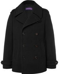 Ralph Lauren Purple Label - Warrington Slim-fit Double-breasted Wool And Cashmere-blend Peacoat - Lyst