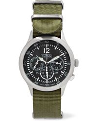 Techné - Merlin 296 Stainless Steel And Webbing Watch - Lyst