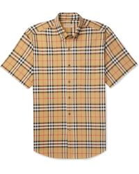 Burberry - Button-down Collar Checked Cotton-poplin Shirt - Lyst