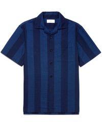 MR P. - Camp-collar Striped Cotton Shirt - Lyst