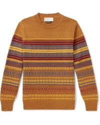 Universal Works - Fair Isle Wool-blend Sweater - Lyst