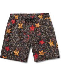 Saturdays NYC - Batik Timothy Mid-length Printed Swim Shorts - Lyst